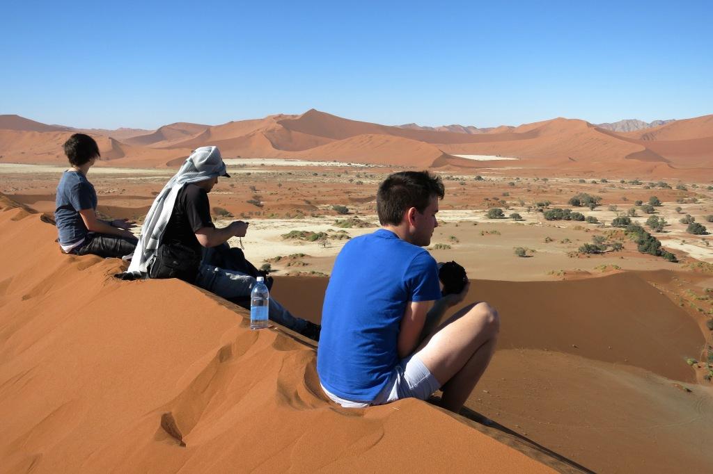 Dune climbing at Sossusvlei