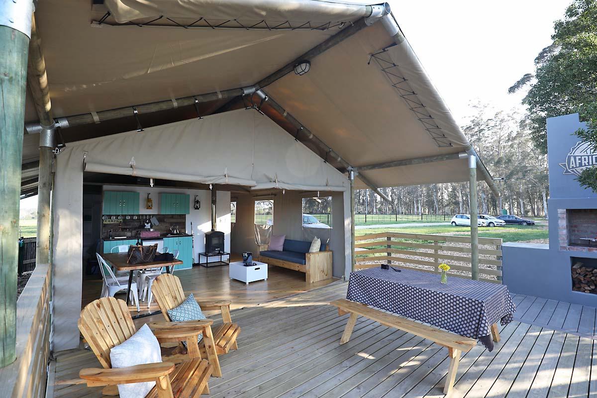 Wooden Deck at Africamps